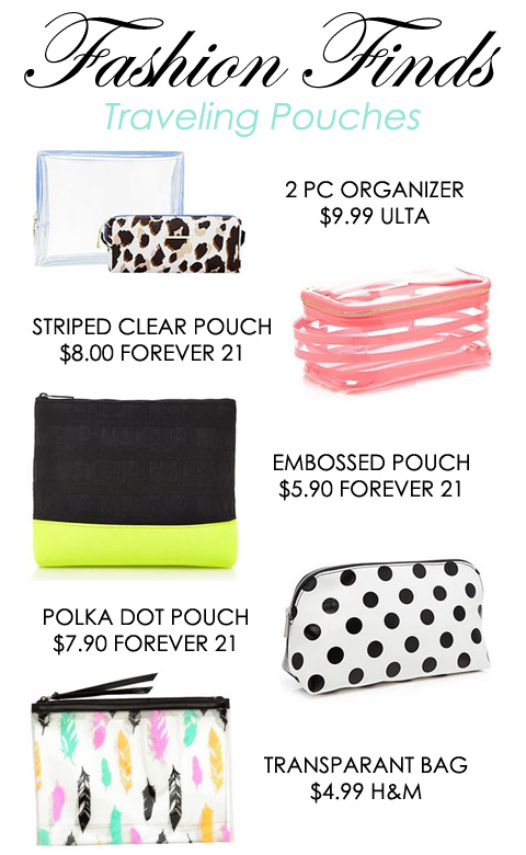 Fashion Finds: Traveling Pouches $10 & Under | Style Through Her Eyes