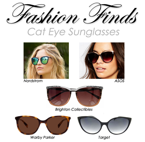Fashion Finds: Cat Eye Sunglasses | Style through Her Eyes